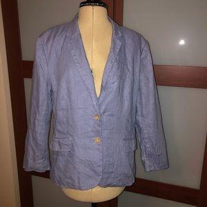 Banana Republic Blue Suit Jacket Blazer Size 14